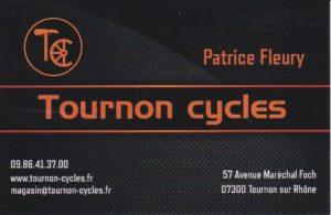 Carte de visite - Tournon Cycles - Tournon - Ardèche